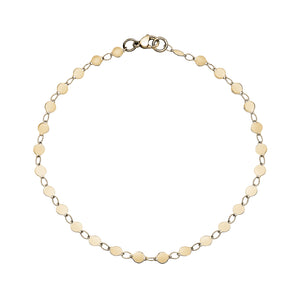 Steel Shiny Round Disc Anklet 9.5""