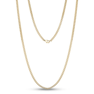 2.5mm Gold Steel Box Link Chain 24""