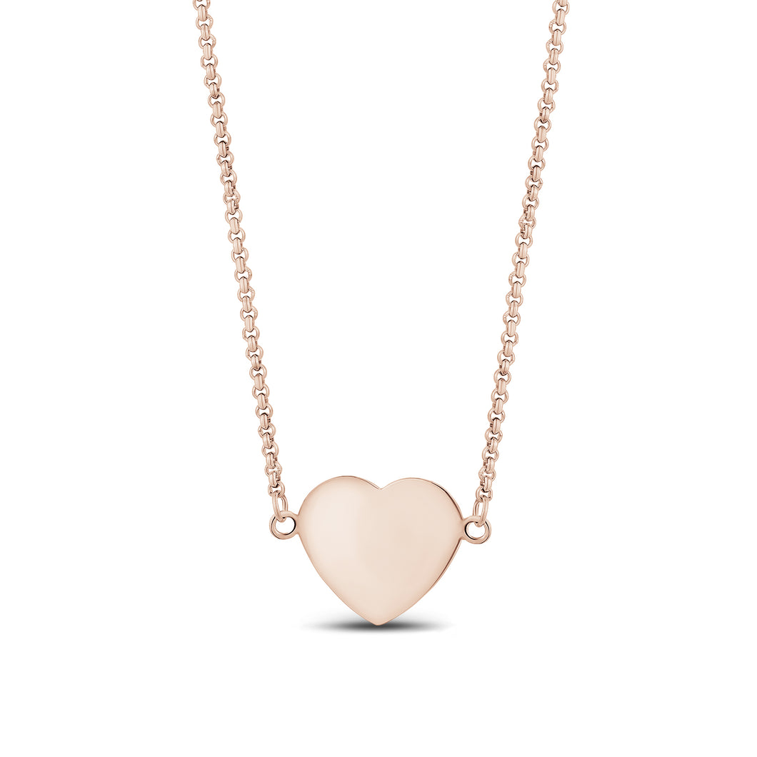 Stainless Steel Heart Necklace 18