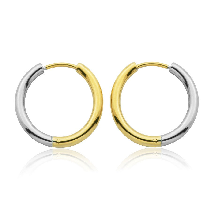 Stainless Steel Two Tone Hoops