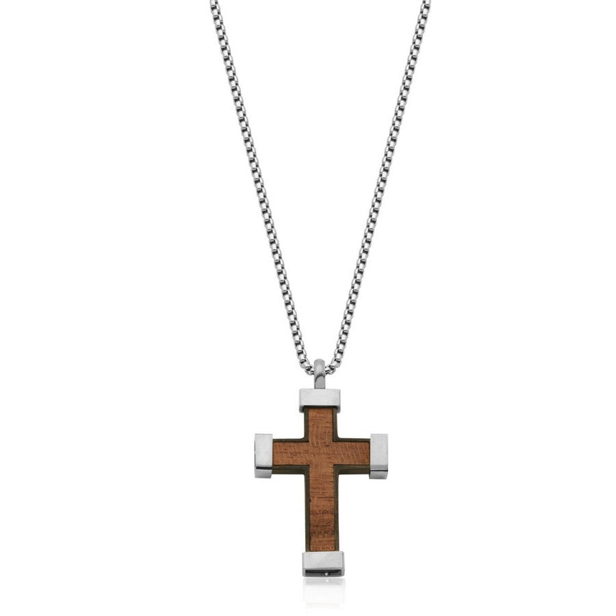 Stainless Steel Wooden Cross