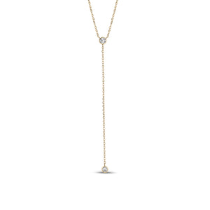 Gold Stainless Steel C.Z Necklace 18""