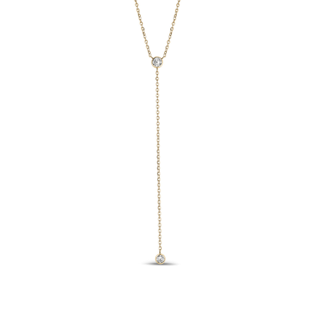 Gold Stainless Steel C.Z Necklace 18