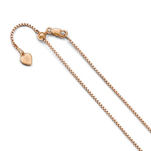Sterling Silver Rose Gold-Plated Adjustable Chain