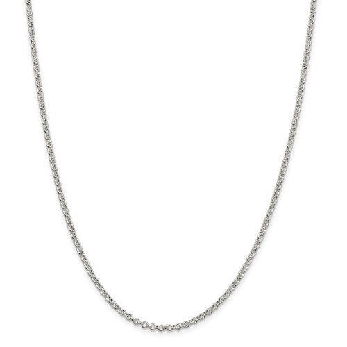Sterling Silver 2.5mm Rolo Chain