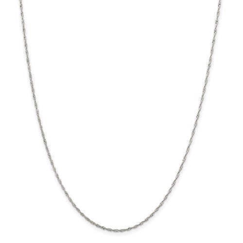 Sterling Silver 1.40mm Singapore Chain