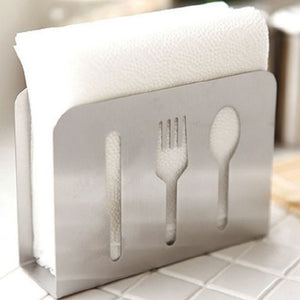 Hollow-Out Stainless Steel Napkin Rack Box