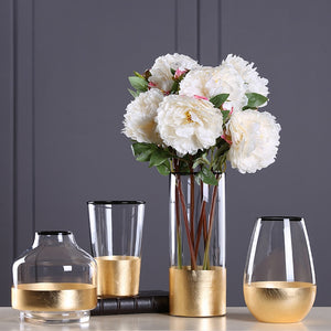 European Modern Golden Glass Vase