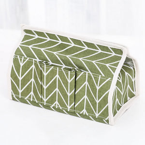 Cotton Linen Art Tissue Box