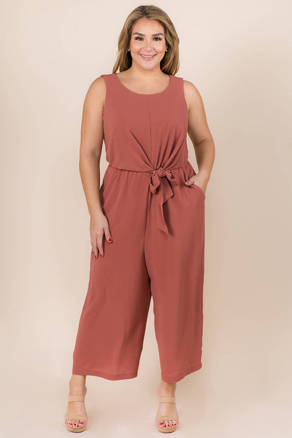 Aya Sleeveless Plus Size Jumpsuit