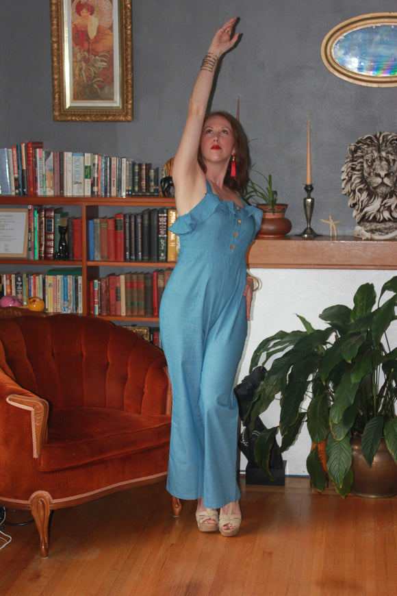 Myra Blue Jumpsuit