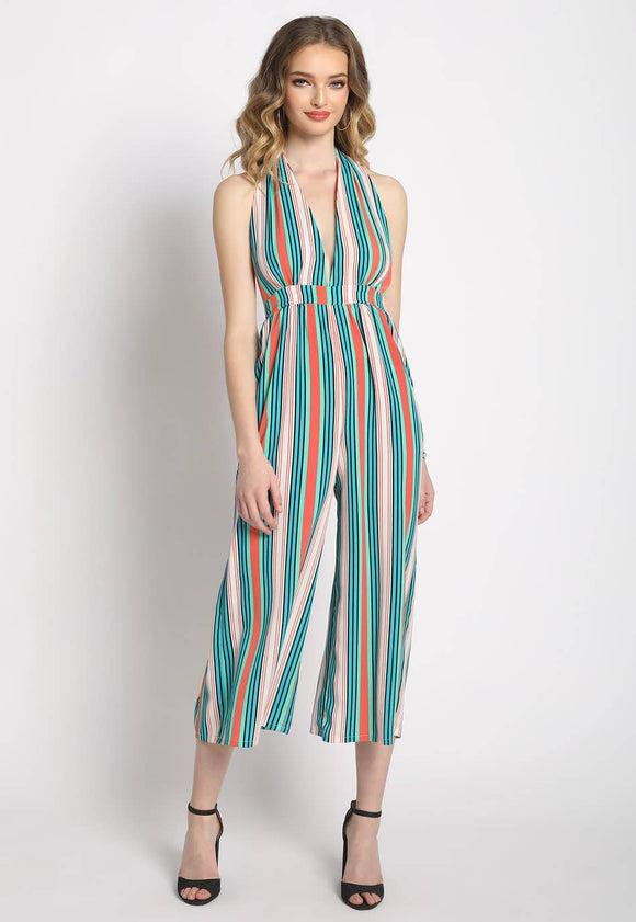 Mindy Striped  Jumpsuit
