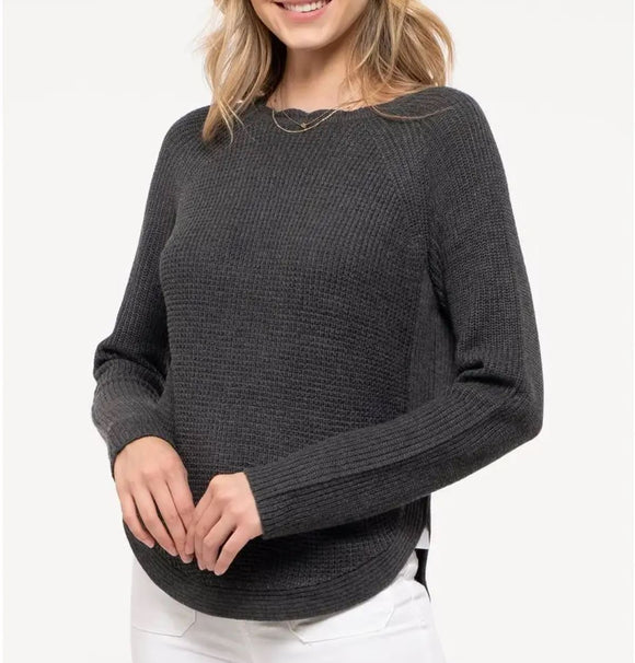 Cozy Charcoal Knit Sweater