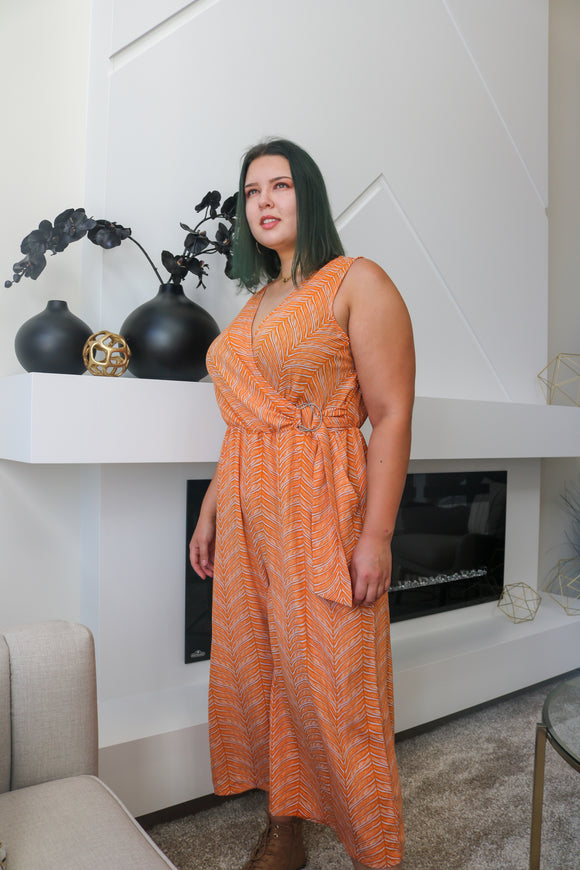 Macy Sleeveless Plus Size Jumpsuit