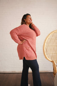 Popcorn Sweater with pockets - Plus