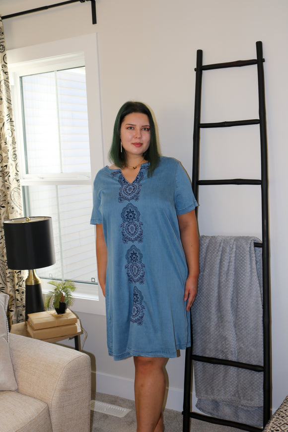 Layla Denim Plus Dress