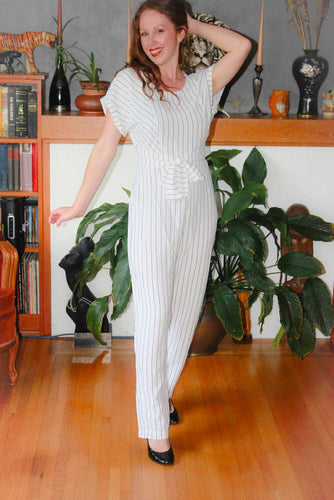 Cindy Black and White Jumpsuit