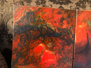 A Marble Dutch pouring art with acrylic paint on 20 inch *10 inch