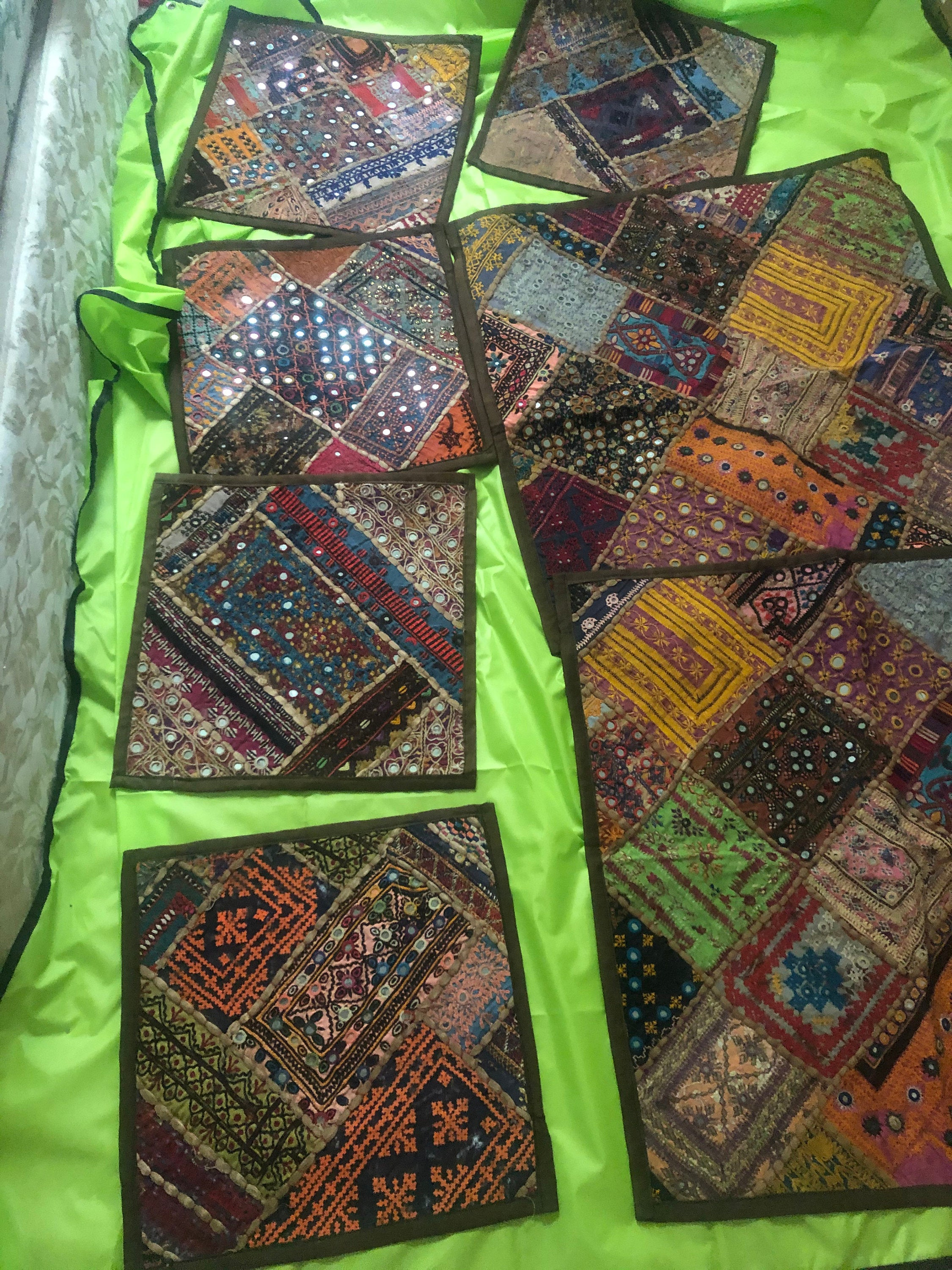 Colorful Sindhi banjara Gypsy tribal style Cushion covers cushion pillows
