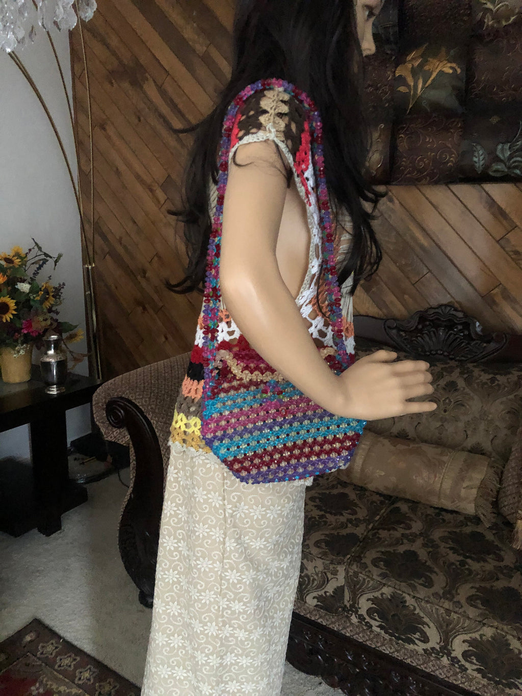 Balochi bridal traditional purse has cute crystal like beads all over