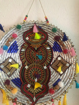 Colorful wall decor made of bamboo Sindhi kutch style