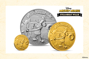 Celebrating Disney Mickey Mouse's Debut on Limited Gold & Silver Coins