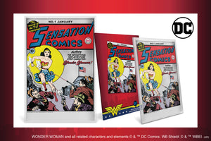 Sensation Comics #1 Cover on Pure Silver Foil. WONDER WOMAN™'s Debut!