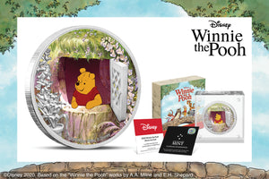 Pooh Bear Stars on First Disney Winnie the Pooh Silver Coin!