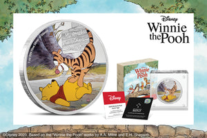 Pooh & Tigger on Next Disney Winnie the Pooh Silver Coin