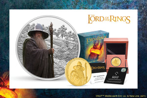 Dark Lord Gandalf the Grey on Gold & Silver Coins