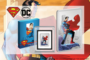 Fan favourite SUPERMAN™ on 1oz silver coin. Limited edition collectible. Buy Now!