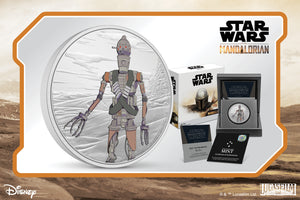 Assassin Droid, IG-11™, on New Silver Coin!