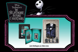 Spooky Silver Coin Celebrates Jack Skellington from Disney's The Nightmare Before Christmas