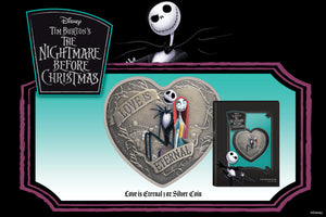 Spooky Silver Coin Celebrates Jack & Sally in Disney's The Nightmare Before Christmas