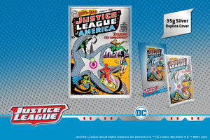 NEW PURE SILVER FOIL SHOWS THE JUSTICE LEAGUE'S FIRST APPEARANCE IN A DC COMIC!