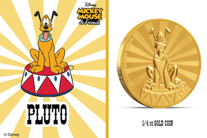 Disney Mickey Mouse's Faithful Pet Pluto in Pure Gold!