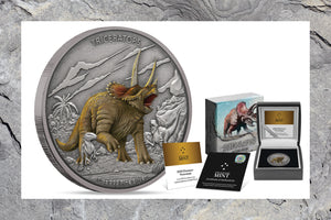 Splendid Triceratops on Pure Silver