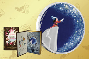 Sorcerer's Apprentice Mickey on New Disney Fantasia Silver Coin