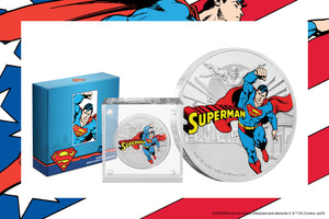 SUPERMAN™ on fourth JUSTICE LEAGUE™ 60th Anniversary Coin