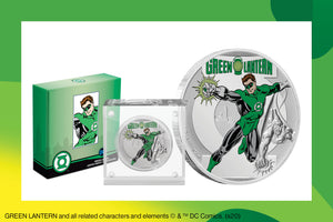 JUSTICE LEAGUE™ turns 60! Get a GREEN LANTERN™ Pure Silver Coin Memento