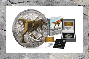 Start your Dinosaur Coin Collection with the Towering T-Rex