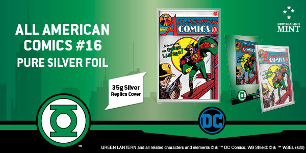 Pure Silver Foil shows the original GREEN LANTERN on All American Comics #16 | NZ Mint