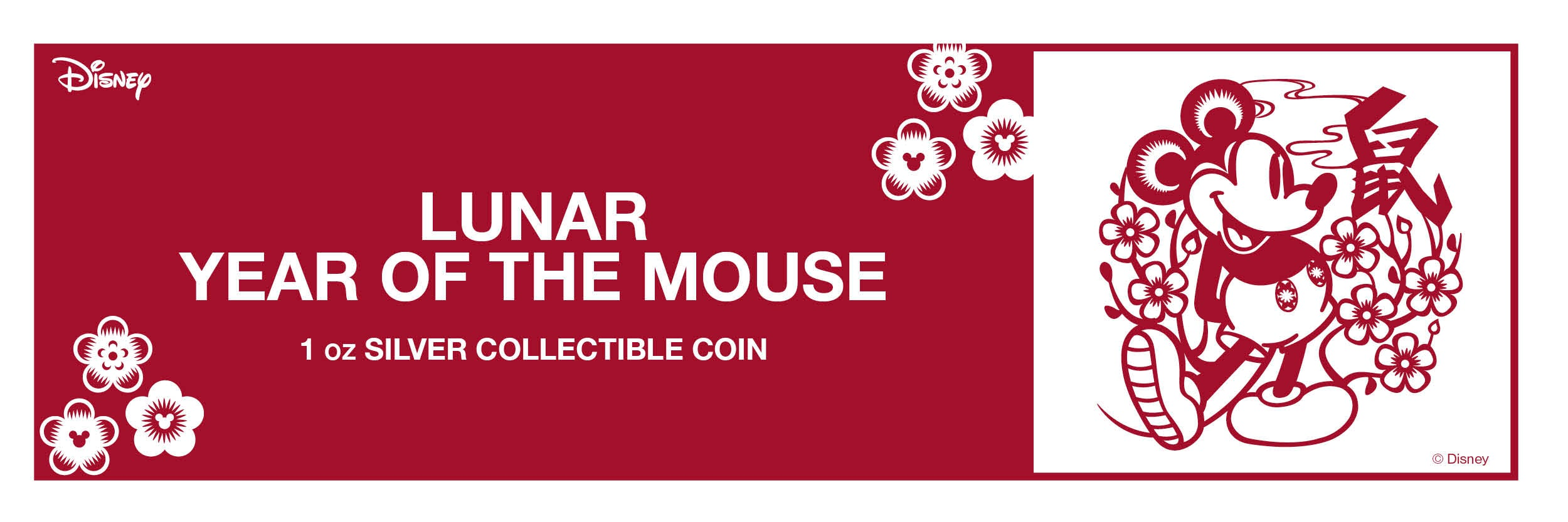 Disney Lunar Year of the Mouse 1oz Silver Coin