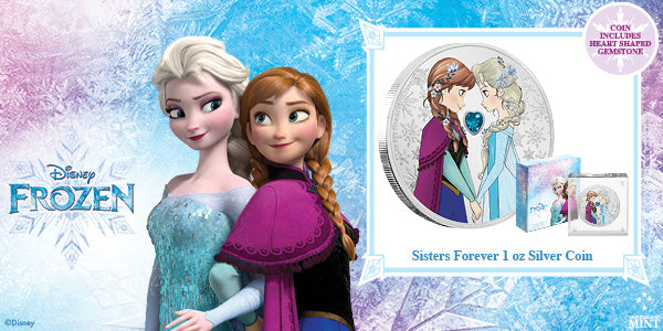 Disney Frozen – Sisters Forever 1oz Silver Coin available now