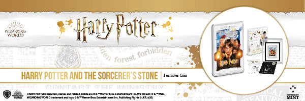 HARRY POTTER™ Classic Poster - The Sorcerer's Stone 1oz Silver Coin
