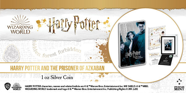 HARRY POTTER AND THE PRISONER OF AZKABAN™ Silver Coin by New Zealand Mint