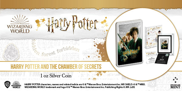 HARRY POTTER™ Classic Poster - The Chamber of Secrets 1oz Silver Coin available now!