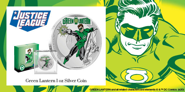 JUSTICE LEAGUE™ 60th Anniversary - GREEN LANTERN™ 1oz Silver Coin available now!