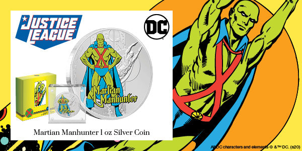 JUSTICE LEAGUE™ 60th Anniversary MARTIAN MANHUNTER™ 1oz Silver Coin