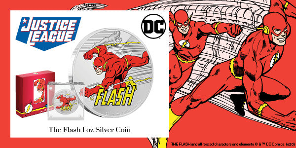 JUSTICE LEAGUE™ 60th Anniversary THE FLASH™ 1oz Silver Coin